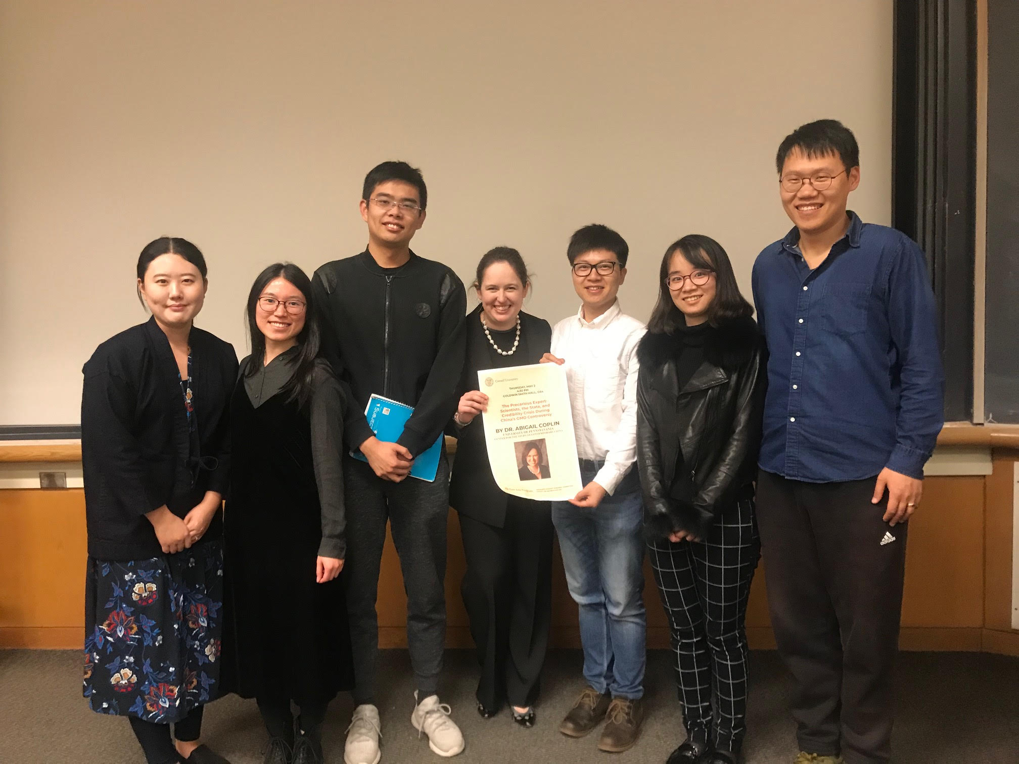 East Asia Program graduate students group photo with guest Abigail Coplin