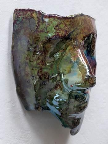 raku clay mask Viridescent