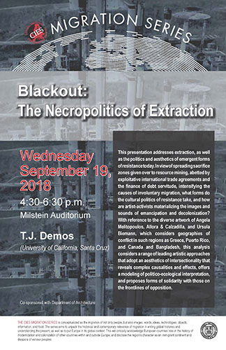 Blackout - The Necropolitics of Extraction Poster