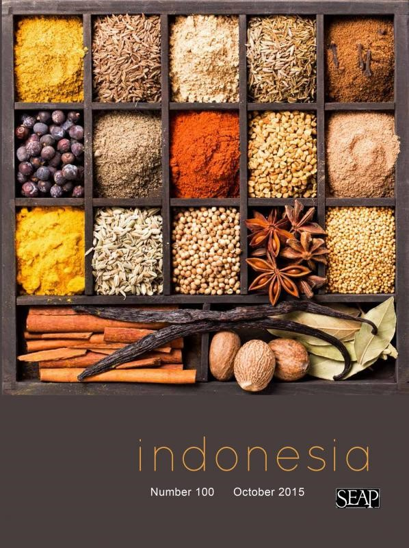 Cover of Indonesia Journal Issue 100 October 2015, with Southeast Asian spices