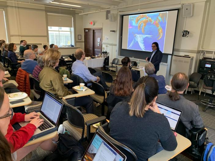 Photo of a LASP Seminar Series Lecture in 2019