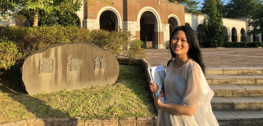 Nancy Liang '21 at the National Taiwan Library