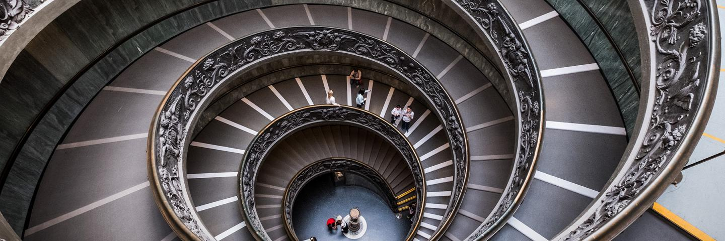 Vatican City spiral staircase