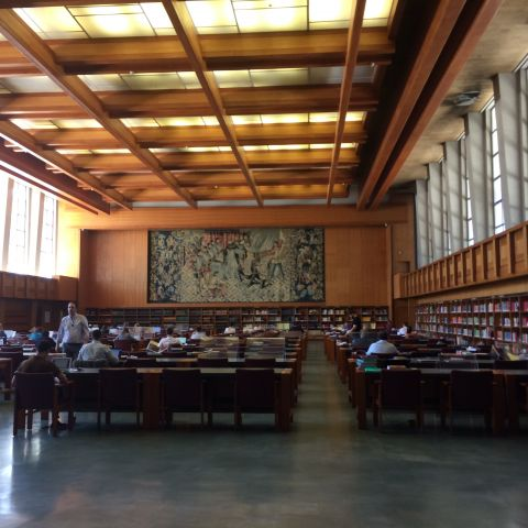 Reading Room Inside the Portuguese National Library