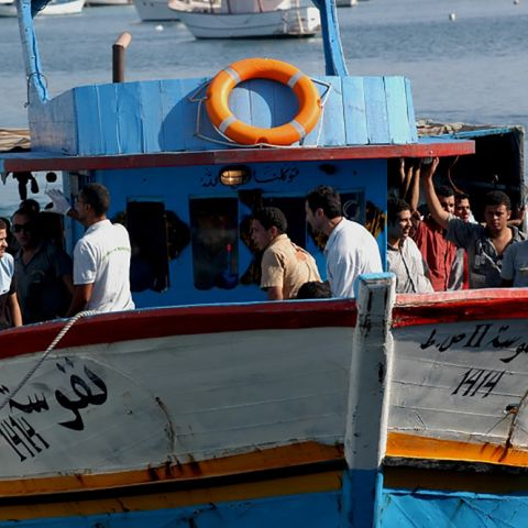 This boat arrived on the Italian island of Lampedusa in 2008. Noborder Network/Flickr